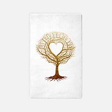 Live Laugh Love Tree 3'x5' Area Rug