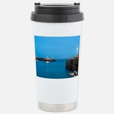 St Ives harbour at nigh Stainless Steel Travel Mug