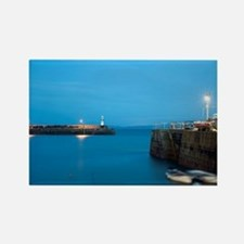 St Ives harbour at night Rectangle Magnet