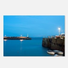 St Ives harbour at night Postcards (Package of 8)