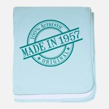 Made in 1957 baby blanket