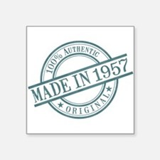 "Made in 1957 Square Sticker 3"" x 3"""