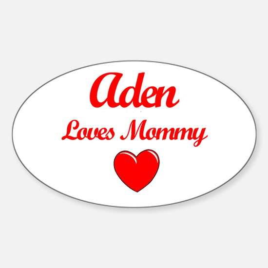 Aden Loves Mommy Oval Decal