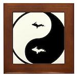 U.P._Ying_Yang.gif Framed Tile
