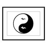 U.P._Ying_Yang.gif Large Framed Print