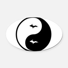 U.P._Ying_Yang.gif Oval Car Magnet