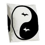 U.P._Ying_Yang.gif Burlap Throw Pillow