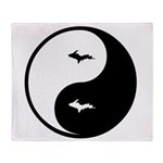 U.P._Ying_Yang.gif Throw Blanket