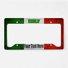 Flag Of Italy License Plate Holder