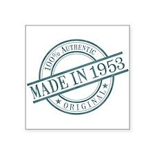 "Made in 1953 Square Sticker 3"" x 3"""
