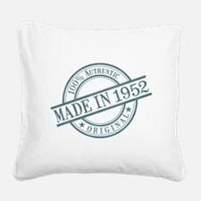 Made in 1952 Square Canvas Pillow