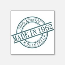 "Made in 1952 Square Sticker 3"" x 3"""