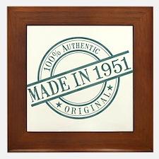 Made in 1951 Framed Tile