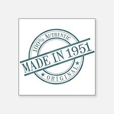 "Made in 1951 Square Sticker 3"" x 3"""