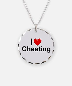 Cheating Necklace Circle Charm