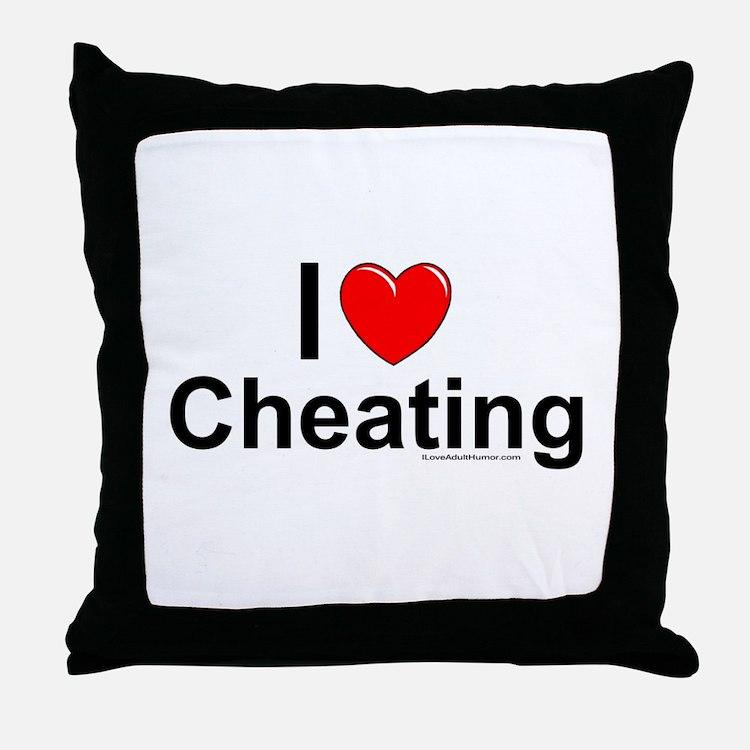 Cheating Throw Pillow