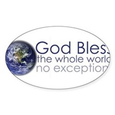 Cute God bless the whole world Decal