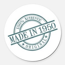 Made in 1950 Round Car Magnet