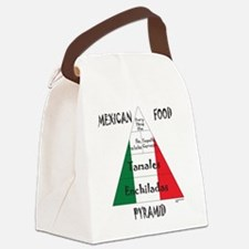 Mexican Food Pyramid Canvas Lunch Bag