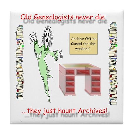 Genealogy Haunt the Archives Tile Coaster