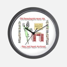 Genealogy Haunt the Archives Wall Clock