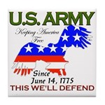 US ARMY Keeping America Free Tile Coaster