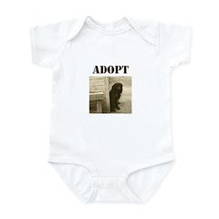 Adopt dog, stray, shelter Infant Bodysuit