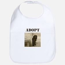 Adopt dog, stray, shelter Bib