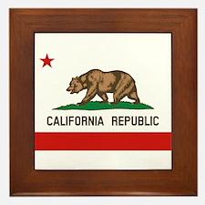 California State Flag Framed Tile