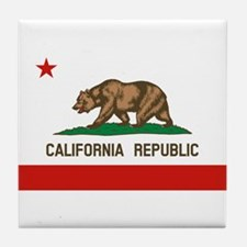 California State Flag Tile Coaster