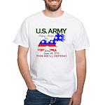 US ARMY Keeping America Free White T-Shirt