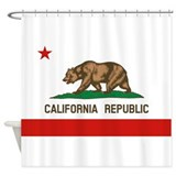 California flag Shower Curtains