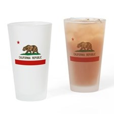 California State Flag Drinking Glass