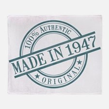Made in 1947 Throw Blanket