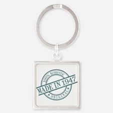 Made in 1947 Square Keychain