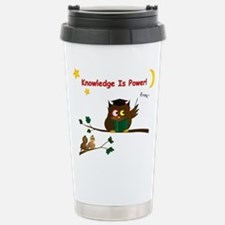 Teaching Wise Owl Stainless Steel Travel Mug