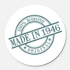 Made in 1946 Round Car Magnet