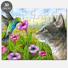Cat 591 with Hummingbird Puzzle