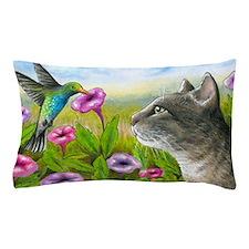Cat 591 with Hummingbird Pillow Case