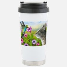 Cat 591 with Hummingbir Stainless Steel Travel Mug