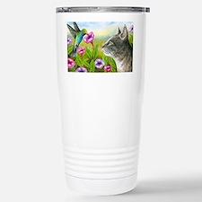 Cat 591 with Hummingbir Travel Mug