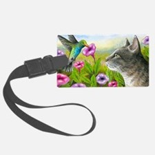 Cat 591 with Hummingbird Luggage Tag