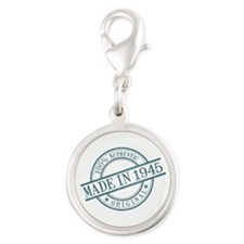 Made in 1945 Silver Round Charm