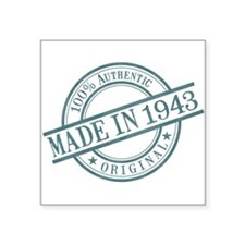 "Made in 1943 Square Sticker 3"" x 3"""