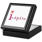 Inspire with small flowers (orange) Keepsake Box