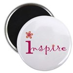 Inspire with small flowers (orange) Magnet
