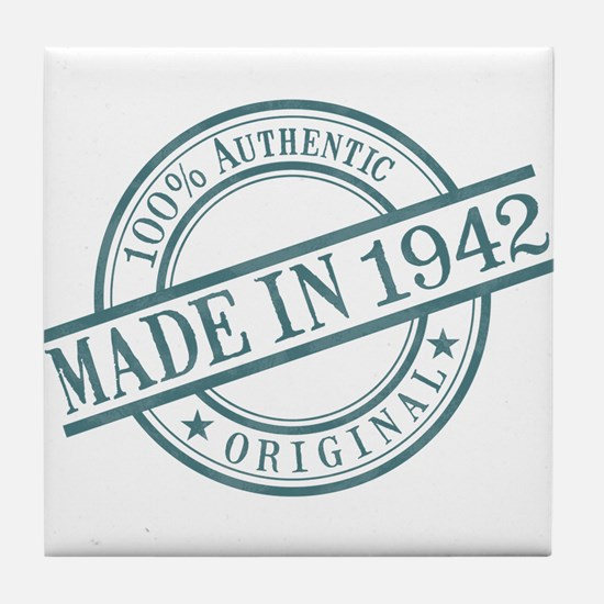 Made in 1942 Tile Coaster