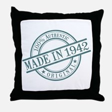 Made in 1942 Throw Pillow