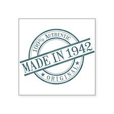 "Made in 1942 Square Sticker 3"" x 3"""