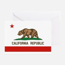 California State Flag Greeting Cards
